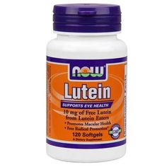 Now Foods Lutein 10 Mg (From Esters) 120 Softgels - Eye Health - Shop by Health Condition - Vitamins, Minerals, Herbs & More