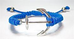 Anker Armband Makramee Gewachste Baumwolle Schmuck von Geralin-Gioielli auf DaWanda.com