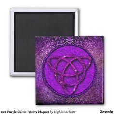 2x2 Purple Celtic Trinity Magnet