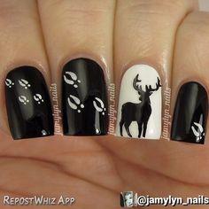 http://decoraciondeunas.com.mx/post/103192860637/this-design-is-just-stunning-these-deer-vinyls | #moda, #fashion, #nails, #like, #uñas, #trend, #style, #nice, #chic, #girls, #nailart, #inspiration, #art, #pretty, #cute, uñas decoradas, estilos de uñas, uñas de gel, uñas postizas, #gelish, #barniz, esmalte para uñas, modelos de uñas, uñas decoradas, decoracion de uñas, uñas pintadas, barniz para uñas, manicure, #glitter, gel nails, fashion nails, beautiful nails, #stylish, nail styles