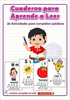 CUADERNO PARA APRENDE A LEER I MATERIAL EDUCATIVO Dual Language Classroom, Classroom Rules, Montessori, Baby Sign Language, Educational Games, Kids Education, School Projects, My Children, Kids Learning