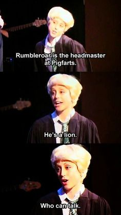 Draco in A Very Potter Musical - He's a lion... who can talk. #starkid