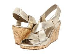 Cole Haan Air Dinah Sandal White Gold Metallic - Zappos.com