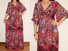 Maxi Dress Kimono Dress Sundress in Colorful Leopard for Women #EasyNip