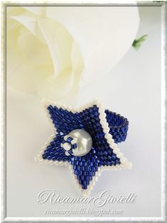 Bague fleur avec perle centrale - Ricamar Joyaux
