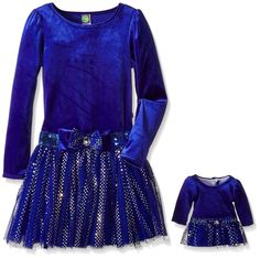 Dollie and Me Girls Dress Velour Drop Waist Holofoil Mesh Blue size 10 NEW 19.99 http://www.ebay.com/itm/-/262595806196?
