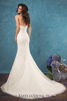 Amelia Sposa Sweetheart Lace Mermaid Wedding Dresses Celia4 / http://www.deerpearlflowers.com/amelia-sposa-2017-wedding-dresses/2/