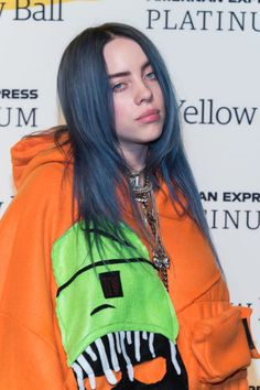 NEW YORK, NY - SEPTEMBER Billie Eilish attends the Yellow Ball at the Brooklyn Museum on September 2018 in New York City. (Photo by Mark Sagliocco/WireImage,) Billie Eilish attends the Yellow Ball at the Brooklyn Museum on September 2018 in New York City. Billie Eilish, Baby Driver, Hbd To Me, My King, Me As A Girlfriend, Cool Girl, Hair Cuts, Celebs, Female