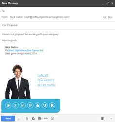 Another example email signature template using our Colorbar ...