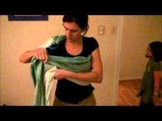 How to create a No Sew Ring Sling with a short woven wrap and a pair of sling rings - YouTube