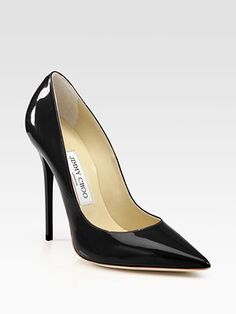 Jimmy Choo - Anouk Patent Leather Point Toe Pumps -
