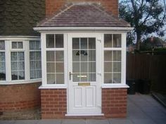 Planning Drawings for Porches Porch Uk, Front Door Porch, Porch Doors, Front Porch Design, Side Porch, Porch Entry, House With Porch, House Front, Upvc Porches