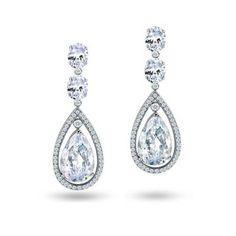 Echt 925 Sterling Silber Ohrringe Ohrhänger Zirkonia rosa Hochzeit Nr 56
