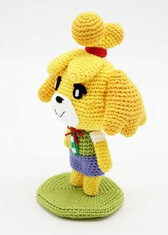 Amigurumi de Canela (Animal Crossing) | CrochetyAmigurumis.com Crochet Gratis, Cute Crochet, Crochet Toys, Knit Crochet, Animal Crossing, Amigurumi Patterns, Crochet Patterns, Play Clothing, Knitting Paterns