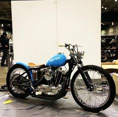 """dicemagazine: """" I was just deleting some pics off my phone and found this. Nice ironhead seen at the Mooneyes HRCS show, Japan. (at Silversun Liquor) """" Sportster Chopper, Custom Sportster, Bobber Chopper, Custom Harleys, Harley Davidson Sportster, Ducati Motorcycles, Custom Motorcycles, Custom Bikes, Motorcycle Types"""