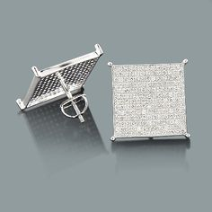 Real Hip Hop Jewelry These Silver Diamond Earrings Showcase 1 76 Carats Of Genuine Diamonds And