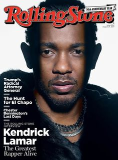 Kendrick Lamar on our August 24, 2017 cover.