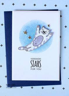 BerryCloud. Creo, ergo sum: 1000000 stars for you / Card + Tutorial My illustration for CAS card