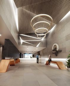 LOBBY - Lobby of Central Apartments, South Yarra. A collaboration between Doherty Lynch and Little Projects.