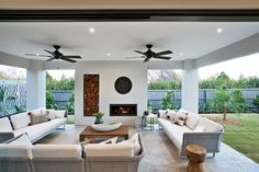 Warm up with the external fireplace built into the alfesco on the Charlton display home with a Caribbean World of Style