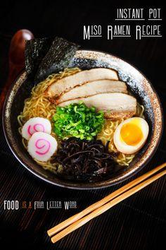 Miso Ramen Recipe Pork, Chashu Pork Recipe, Ramen Noodle Recipes, Curry Ramen, Ramen Broth, Pork Recipes, Cooking Recipes, Aesthetic Food, Gastronomia