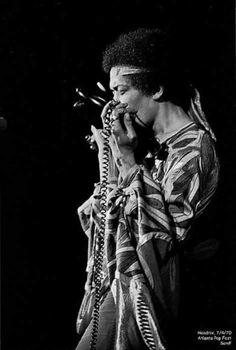 Jimi Hendrix, At The Atlanta International Pop Festival, July 3-5, 1970