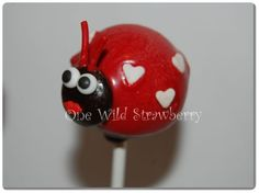 Valentines Love Bug Cake Pops