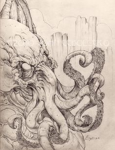 Cthulhu Waits Dreaming by *CreepySeb