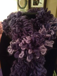 Boutique Swerve Purply-Loop Scarf on Etsy, $18.00