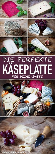 The perfect cheese platter - the classic very simple - easy to cook-Die perfekte Käseplatte – Der Klassiker ganz einfach – emmikochteinfach The perfect cheese platter – the classic for your … - Mexican Breakfast Recipes, Brunch Recipes, Party Finger Foods, Party Snacks, Muy Simple, Cheese Party, Party Buffet, Christmas Breakfast, Cheese Platters