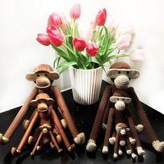 Strikkefåret: Hæklet stor abe med opskrift Knit Crochet, Crochet Patterns, Diy Crafts, Entertaining, Table Decorations, Knitting, Gifts, Inspiration, Home Decor