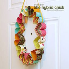 Paper Heart valentines wreath