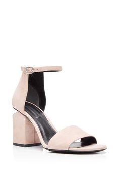 Sand suede abby sandals by ALEXANDER WANG for Preorder on Moda Operandi