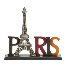 This romantic centerpiece highlights the iconic monument of Paris, the grand Eiffel Tower. This elegant table decor allows you to enjoy the everyday experiences between trips from the comfort of your own home.