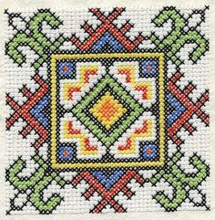 Ukrainian Cross Stitch Squares Machine Embroidery by Genniewren