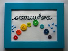 """Somewhere over the """"button"""" rainbow #buttons #crafts"""
