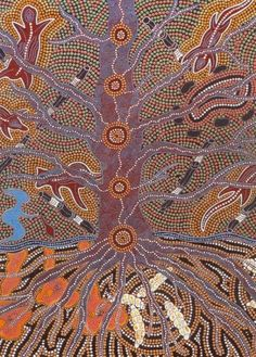 Tree of Life by Terry Johnstone - aboriginal artwork