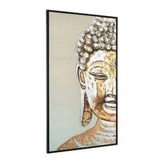 Gild 35-In W X 71-In H Framed Canvas Serenity Original Painting Wall A