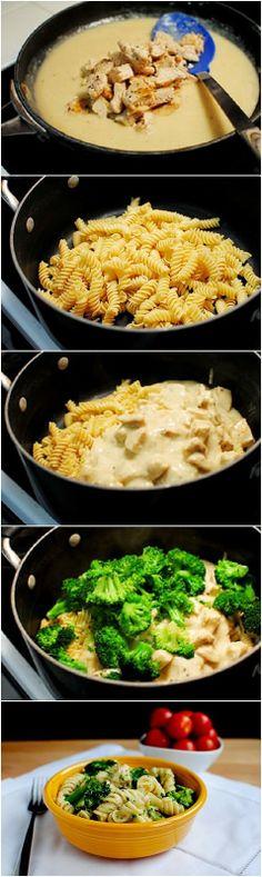 superstuffz: Easy Chicken  Broccoli Alfredo