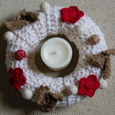 crochet winter wreath free tutorial