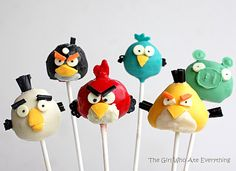 may have to have a random angry birds party for my boys- these are cute