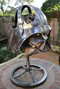 Darth Vader Steel Sculpture lamp made out of scrap metal. Metal Welding, Welding Art, Welding Projects, Art Projects, Metal Projects, Project Ideas, Welding Design, Welding Crafts, Blacksmith Projects