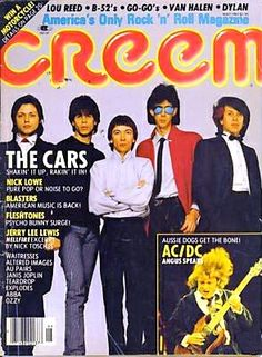 The Cars on the cover of Creem magazine