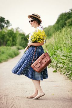 She is so ready for a delightful day out! #polkadots #summer via modcloth.com