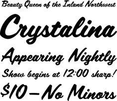 """1950s Font """"Scriptorama Tradeshow"""" at Veer"""