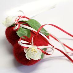 """knuffiges Ringherz """"Rosen"""" von AnnaBlume auf DaWanda.com"""