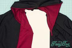 Harry Potter Robe Pattern Free (DIY) ♥ Fleece Fun Harry Potter Cloak, Theme Harry Potter, Costume Patterns, Dress Patterns, Pattern Dress, Sewing Patterns Free, Free Sewing, Hogwarts Robes, Sewing Essentials