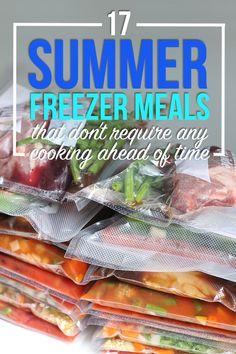 17 Summer Freezer Meals That Don't Require Cooking Ahead - 17 Summer Freezer Me. - 17 Summer Freezer Meals That Don't Require Cooking Ahead – 17 Summer Freezer Meals That Don' - Freezable Meals, Slow Cooker Freezer Meals, Make Ahead Freezer Meals, Dump Meals, Easy Meals, Inexpensive Meals, Frugal Meals, Freezer Meal Party, Crock Pot Freezer