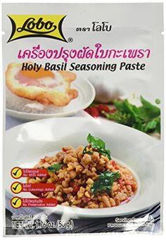 Lobo brand Thai Holy basil seasoning paste  176 oz each 5 packs -- Click image to review more details.Note:It is affiliate link to Amazon.