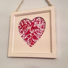Mum love heart papercut. Hand cut. Available now for £25 plus £5 postage www.facebook.com/rosebudpapercrafts